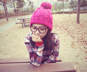 girl, glasses, and asian image