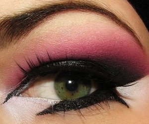 eye, pink, and sex image