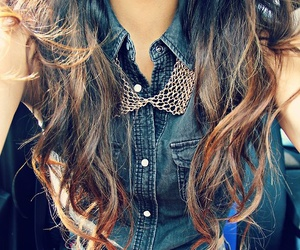 girl, necklace, and curls image