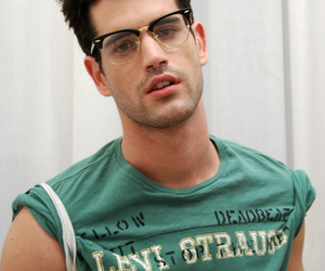 glasses, hair, and handsome image