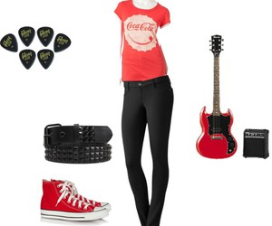 converse, gibson, and outfit image