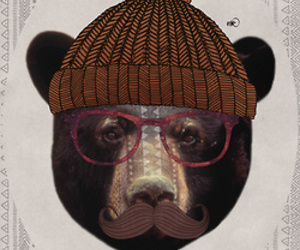 bear and hipster image