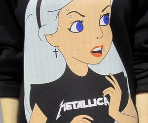 metallica, alice, and disney image