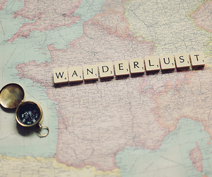 wanderlust, map, and travel image