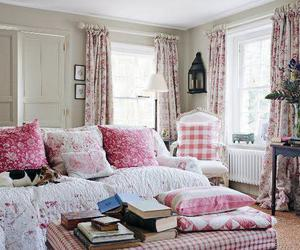 pink, books, and room image