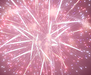 fireworks, pink, and pretty image