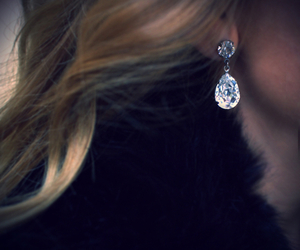 earrings, diamond, and hair image
