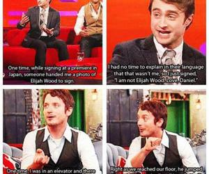 harry potter, elijah wood, and funny image