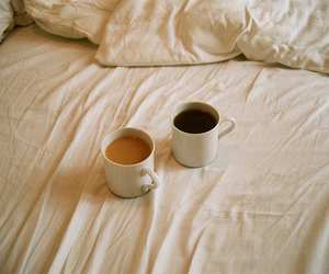 coffee, bed, and tea image