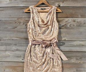 dress, glitter, and gold image
