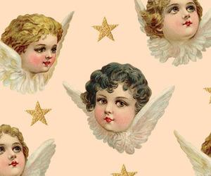 angel, cherubs, and stars image