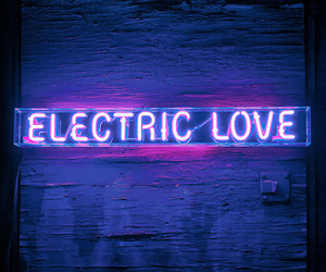 electric, lights, and neon image