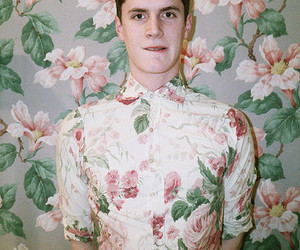 flowers, floral, and guy image