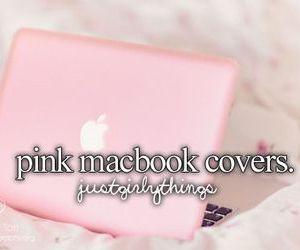 macbook, pink, and nice image