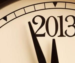2013, clock, and new year image