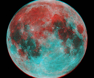 moon and 3d image