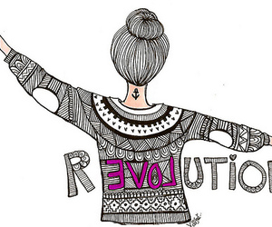 revolution, love, and drawing image