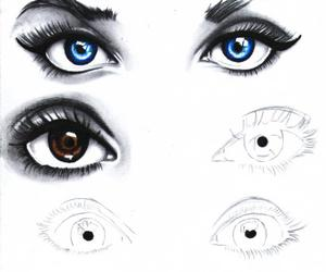 blue, brown, and eyes image