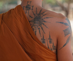 tattoo and monk image