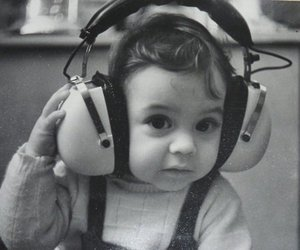 cute, baby, and music image