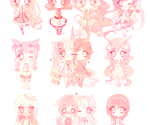 chibi pink lovely cute image