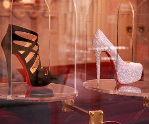 black, heels, and pink image