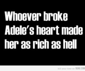 Adele, funny, and heart image