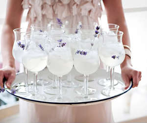 drink, lavender, and cocktail image