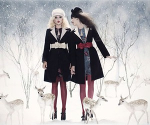red and snow image