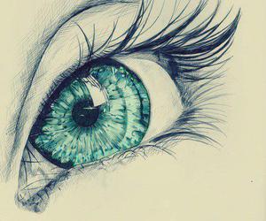 eye, drawing, and eyes image