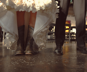 boots, couple, and girl image