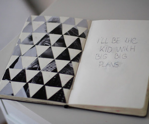 notebook and triangle image