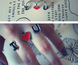 fashion, heart, and ring image