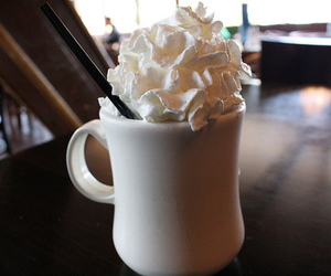 cream, drink, and coffee image