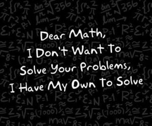 dear, problem, and math image