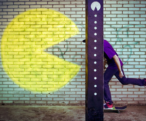 pacman, boy, and photography image