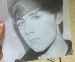art, drawing, and bieber image