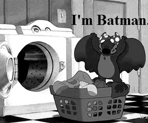 batman, stitch, and disney image