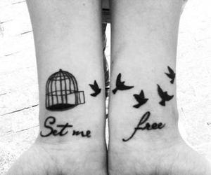 tattoo, bird, and set me free image
