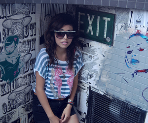 girl, glasses, and sunglasses image