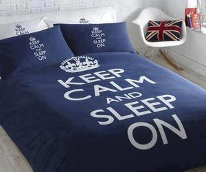 keep calm, sleep, and bed image