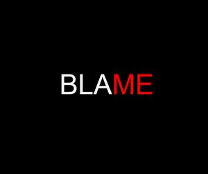 black, blame, and tshirt image