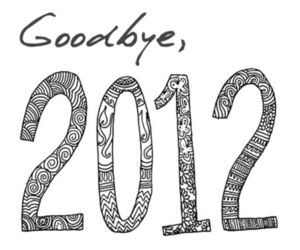 2012, goodbye, and 2013 image