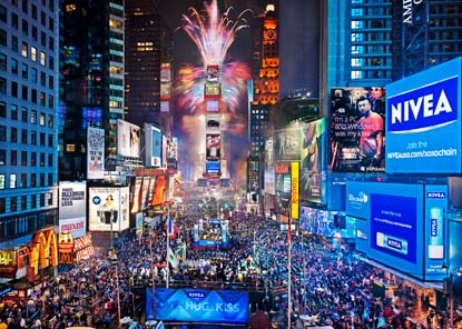 new york, new year, and time square image