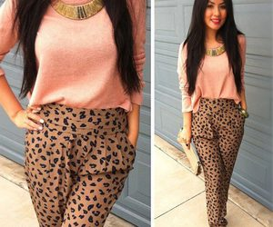 leopard and outfit image