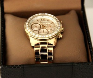 watch, girl, and gold image