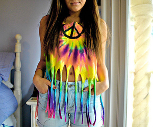 girl, peace, and cool image