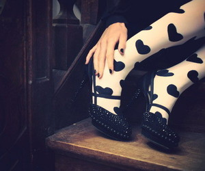 shoes, tights, and heart image