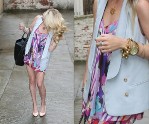 accessories, blonde, and dress image