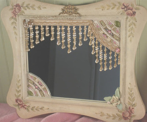 mirror, pretty, and vintage image